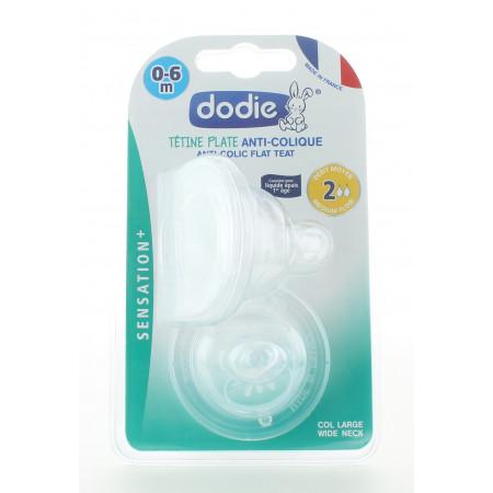 Dodie Tétine Plate Anti-Colique 0-6mois X2
