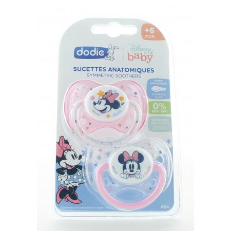 Dodie Sucette Anatomique Disney Minnie +6mois X2