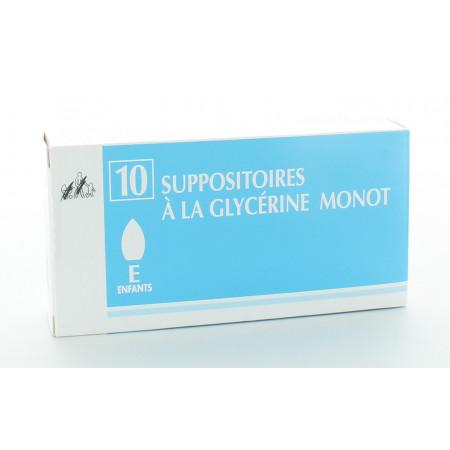 Suppositoires à la Glycérine Monot Enfants X10