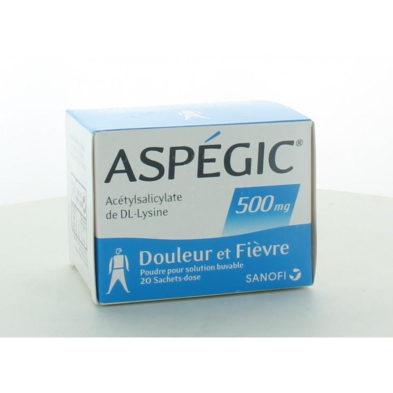 Aspégic 500mg 20 sachets-dose