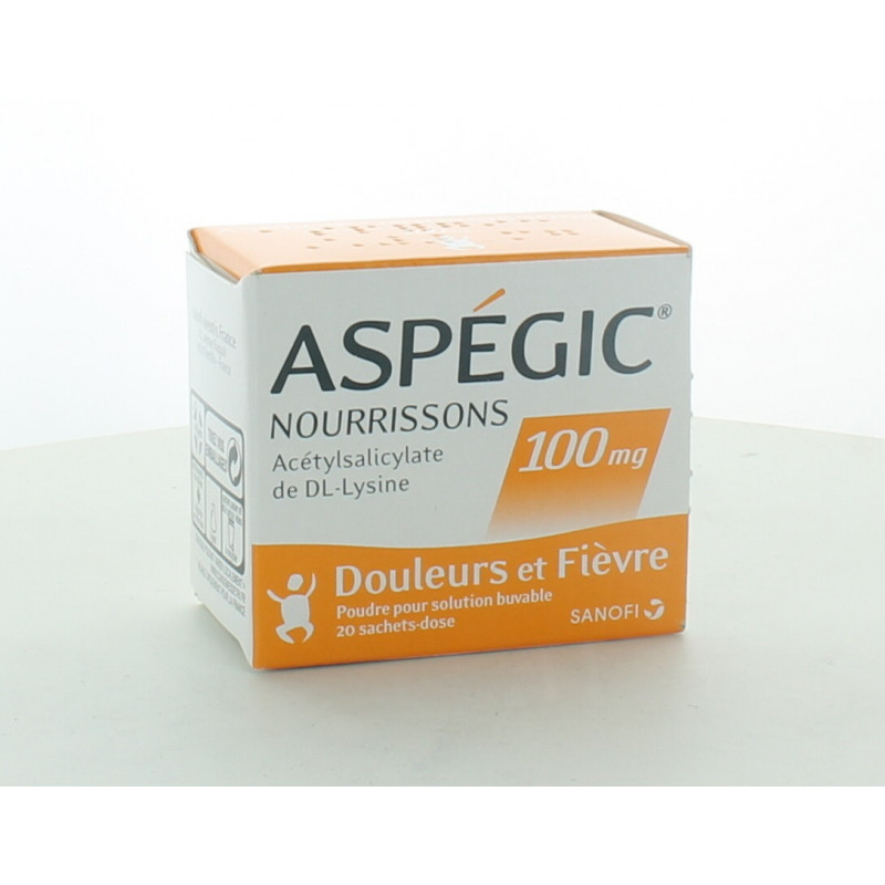 Aspégic Nourrissons 100mg 20 sachets-dose