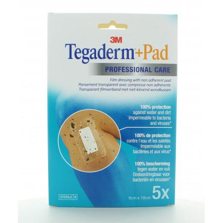 3M Tegaderm+Pad Pansement Non Adhérent 9X10cm X5