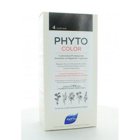 Phyto Color Kit Coloration Permanente 4 Châtain