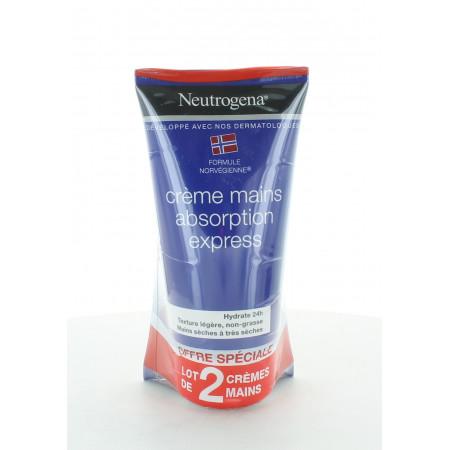 Neutrogena Crème Mains Absorption Express 75mlX2