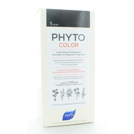 Phyto Color Kit Coloration Permanente 1 Noir