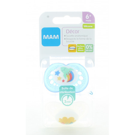 MAM 74 Décor Sucette Anatomique Silicone 6 mois+ X2