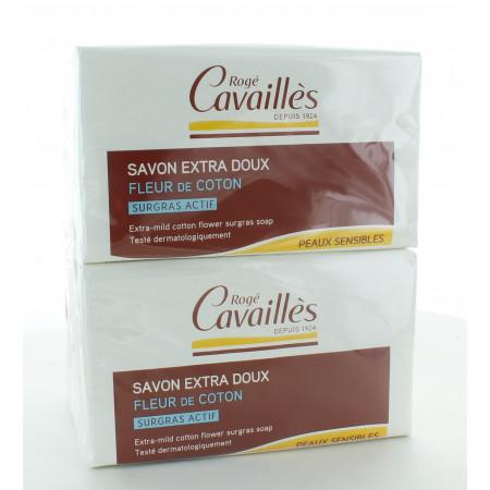 Rogé Cavaillès Savon Extra Doux Fleur de Coton 4X250g