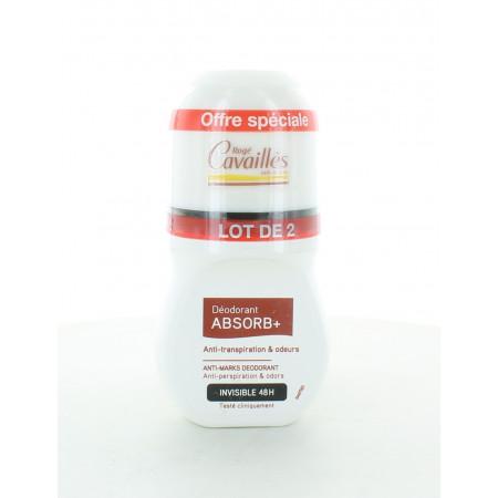 Rogé Cavaillès Déodorant Roll-On Absorb+ 48h 2x50ml