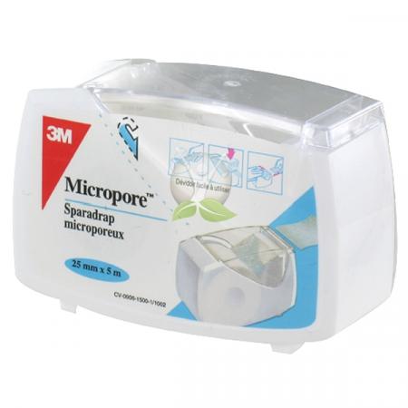 MICROPORE 25MMX5M BLANC DEVIDOIR