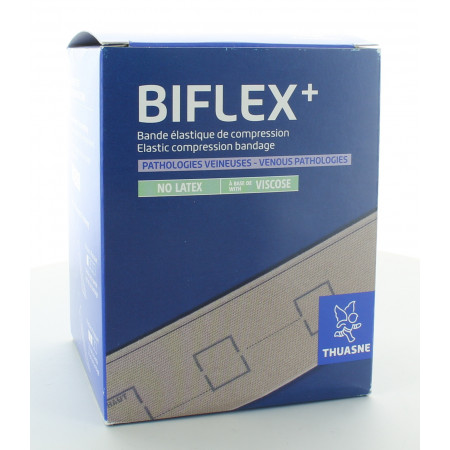 Thuasne Biflex+ Bande Elastique de Compression 16 Légère 10cmX3m