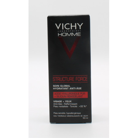 Vichy Homme Structure Force Soin Global Hydratant Anti-âge 50ml