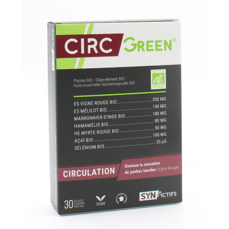 SynActifs CircGreen Bio 30 gélules