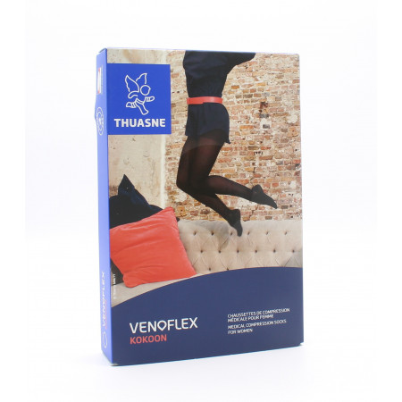 Thuasne Venoflex Kokoon Chaussettes de Compression Médicale T2N Noir
