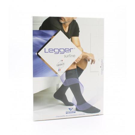 Legger Surfine Chaussettes de Compression Médicale T2 Normal Noir
