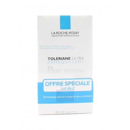 La Roche-Posay Toleriane Ultra Démaquillant unidoses 5mlX30 lot de 2