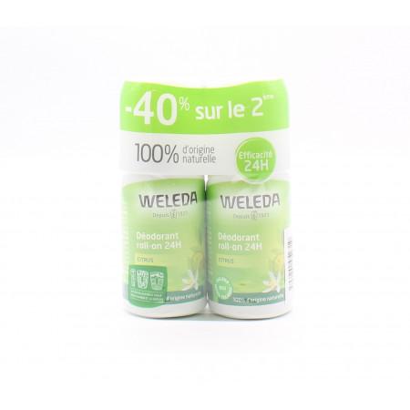 Weleda Déodorant Roll-on Citrus 24h 50mlX2