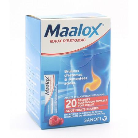 Maalox Maux d'Estomac Fruits Rouges 20 sachets