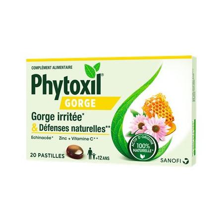 Phytoxil Gorge Irritée & Défenses Naturelles 20 pastilles