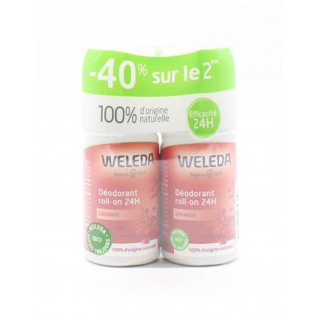 Déodorant Roll-on Grenade 24H Weleda 2X50 ml