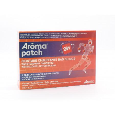 Arôma Patch 8H Ceinture Chauffante Bas du Dos+ 6 Patchs Chauffants 9,5X13cm