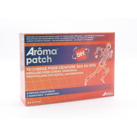 Arôma Patch 8H Recharge Ceinture 6 Patchs Chauffants Bas du Dos 9,5X13cm