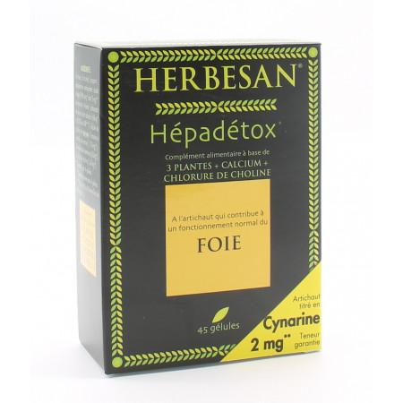 Herbesan Hépadétox Foie 45 gélules