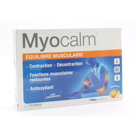 Myocalm Equilibre Musculaire 20 ampoules