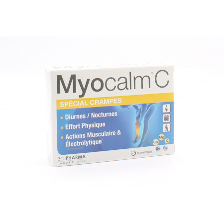 Myocalm C Spécial Crampes 30 comprimés