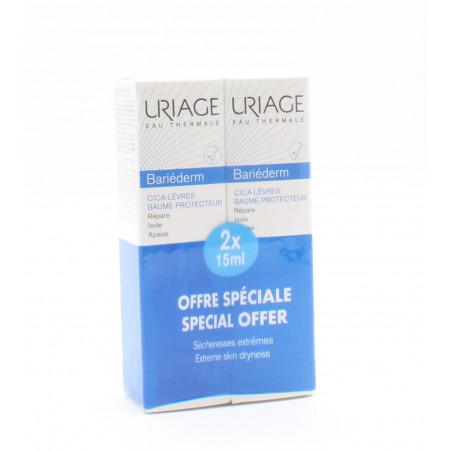 Uriage Bariéderm Cica-lèvres Baume Protecteur 15mlX2
