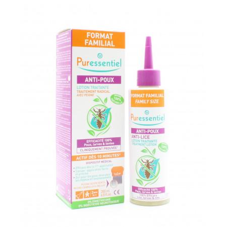 Puressentiel Anti-poux Lotion Traitante Format Familial 200ml +Peigne