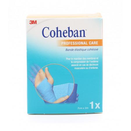 Coheban Professional Care Bande Élastique Cohésive 7cmX3m