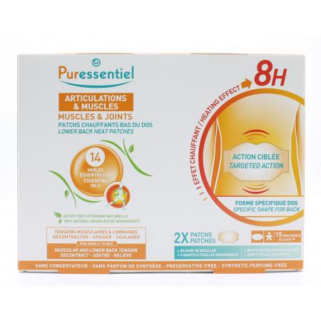 Puressentiel Articulations & Muscles Patchs Chauffants Bas du Dos X2