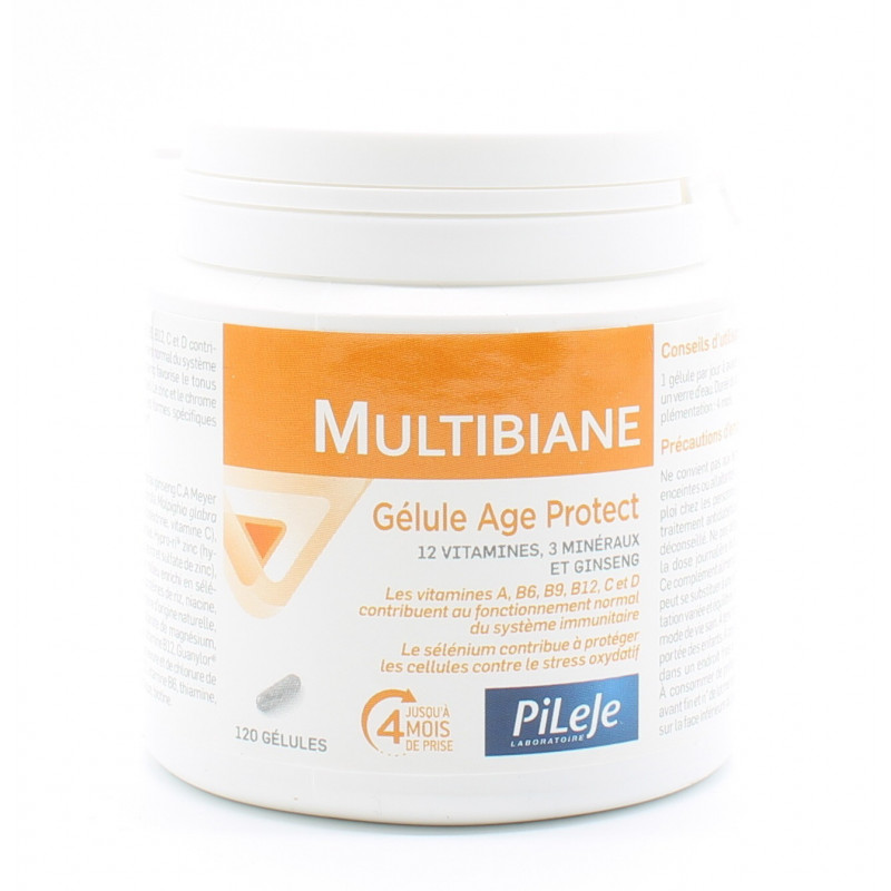 PiLeJe Multibiane Age Protect 120 gélules