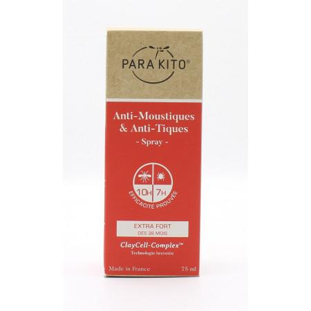 Para'Kito Anti-Moustiques & Anti-Tiques Spray 75ml