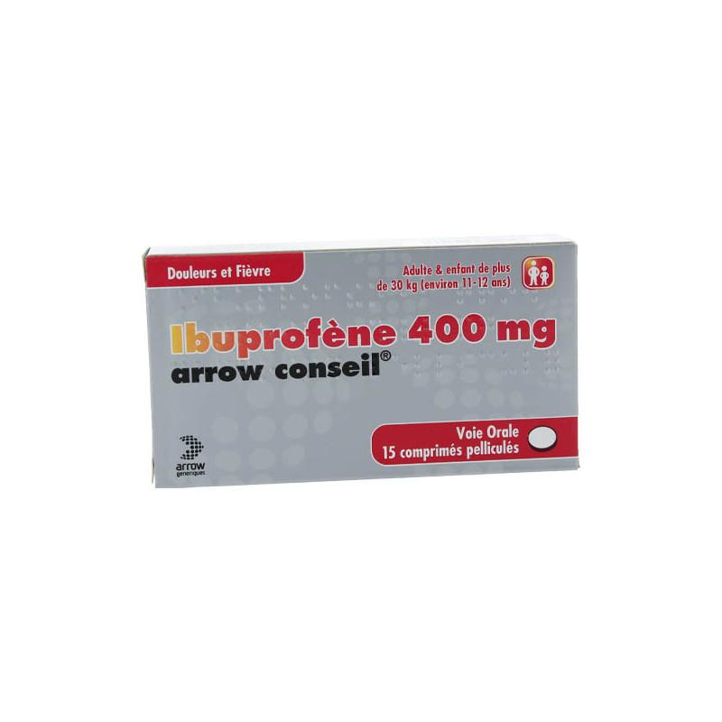 Ibuprofène 400 mg Arrow 15 comprimés
