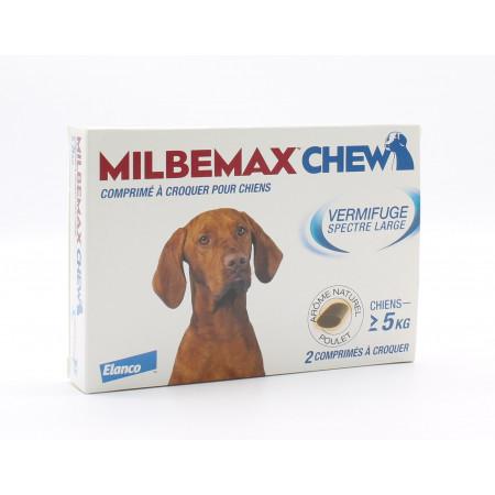 Milbemax Chew Vermifuges +5kg Comprimés à Croquer x2