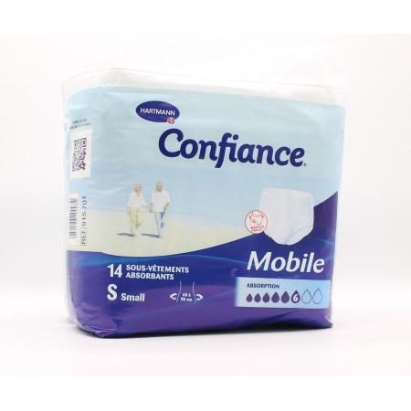 Confiance Mobile Taille S 6 Gouttes 14 sous-vêtements absorbants