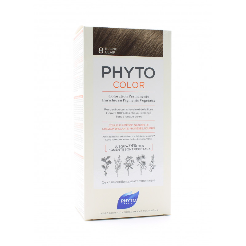 Phyto Color Kit Coloration Permanente 8 Blond Clair
