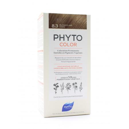 Phyto Color Kit Coloration Permanente 8.3 Blond Clair Doré