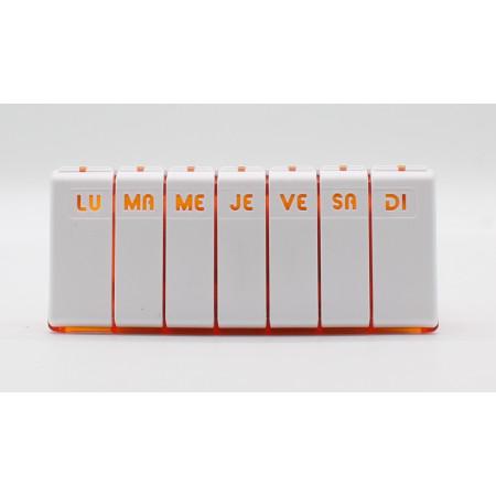 Pilbox Tempo Pilulier Hebdomadaire Orange
