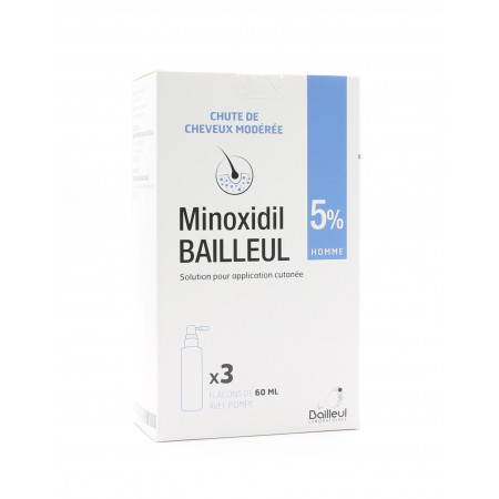 Minoxidil 5% Bailleul 3X60ml
