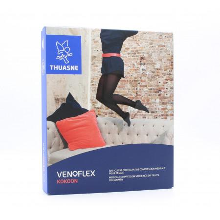 Thuasne Venoflex Kokoon Bas-cuisse de Compression Médicale T2N Noir