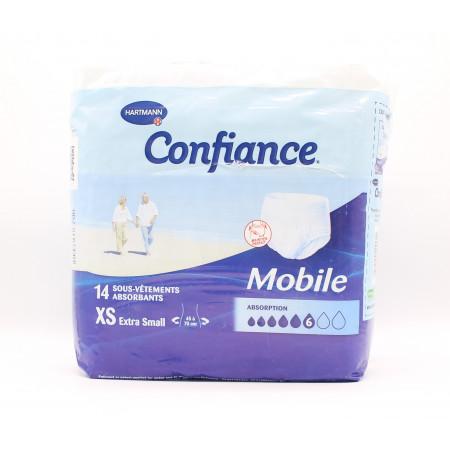 Confiance Mobile Taille XS 6 Gouttes 14 sous-vêtements absorbants