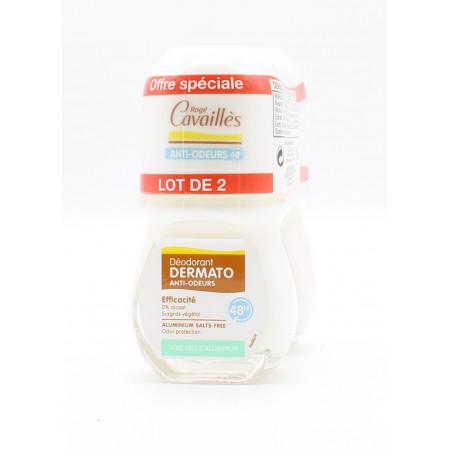 Rogé Cavaillès Déodorant Dermato Anti-odeurs 48h 50mlX2