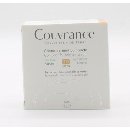 Couvrance Crème de Teint Compacte Fini Mat Naturel 2 10g