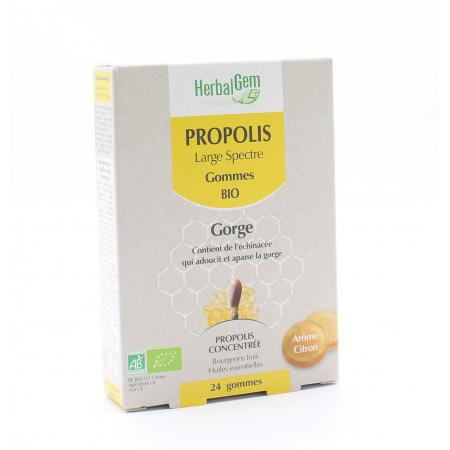 HerbalGem Propolis Gommes Bio Gorge X24