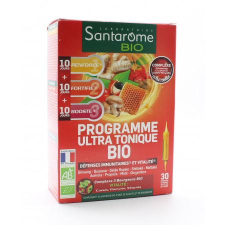 Santarôme Bio Programme Ultra Tonique Ampoules Buvables 30x10ml