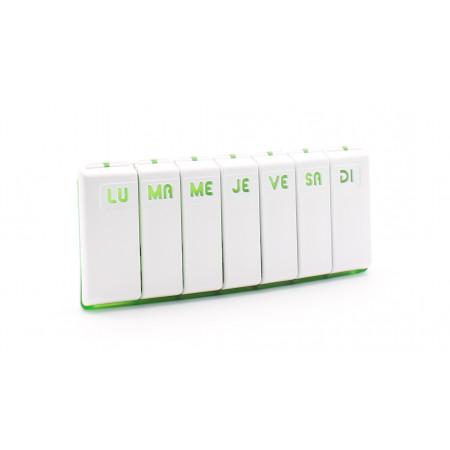 Pilbox Tempo Pilulier Hebdomadaire Vert