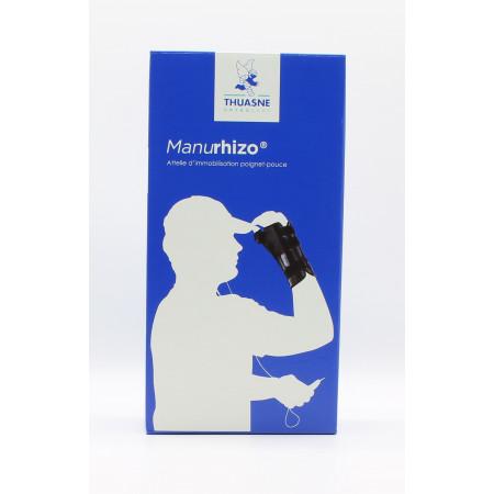 Thuasne Manurhizo Pro Attelle Noir Gauche Immobilisation Poignet-pouce Taille 3