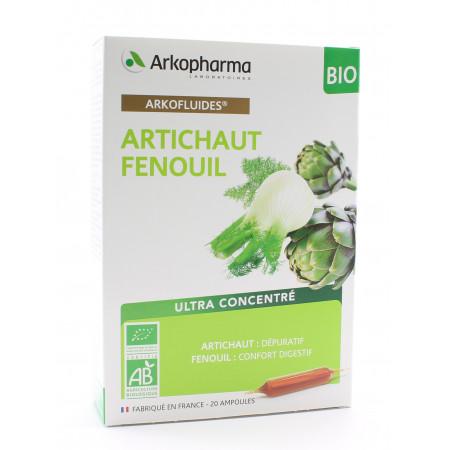 Arkopharma Arkofluides Bio Artichaut Fenouil 20 ampoules
